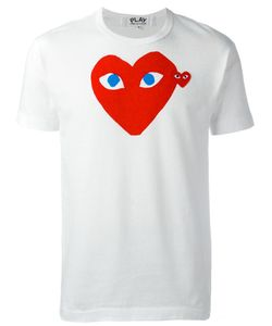 Comme des Gar ons Play | Comme Des Garçons Play Logo Print T-Shirt Large