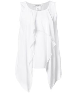 Bianca Spender | Draped Detailing Blouse 10 Cotton