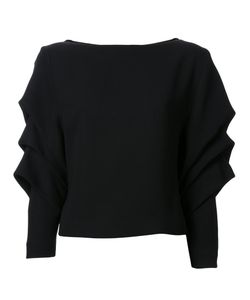 Bianca Spender | Draped Longsleeved Blouse 8 Polyester/Acetate