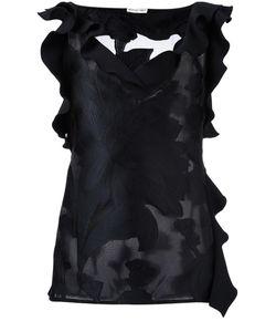 Emanuel Ungaro | V-Neck Ruffled Blouse 44 Silk/Polyamide/Polyester