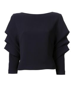 Bianca Spender | Draped Longsleeved Blouse 10 Cotton