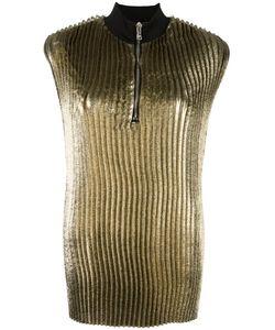 3.1 Phillip Lim | Pleated Lamé Top 4 Silk/Polyamide/Polyester/Viscose