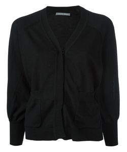 Alberta Ferretti | Cropped Buttoned Cardigan 44 Virgin Wool