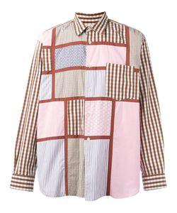 Comme Des Garcons   Comme Des Garçons Vintage Patchwork Gingham Check Shirt Medium