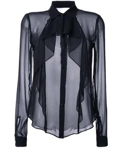 Bianca Spender | Draped Sheer Shirt 12 Cotton