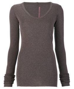 Rick Owens Lilies | V-Neck T-Shirt 42 Polyamide/Viscose/Angora/Wool