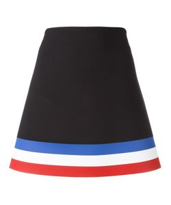 J.W. Anderson | J.W.Anderson Striped Hem Mini Skirt 10 Silk/Spandex/Elastane/Acetate/Wool
