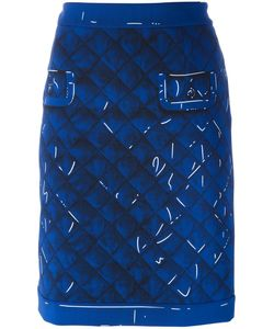 Moschino | Trompe-Loeil Skirt 40 Polyester/Rayon/Triacetate
