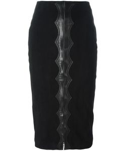 Alaïa | High-Rise Velvet Effect Skirt 38