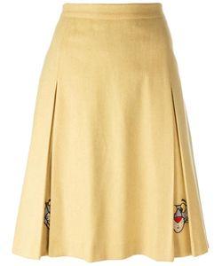JC DE CASTELBAJAC VINTAGE | Panther Embroidered Skirt 44