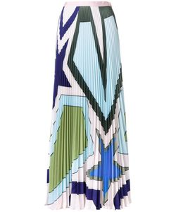 Mary Katrantzou | Star Heart Pleated Skirt 12 Polyester/Viscose
