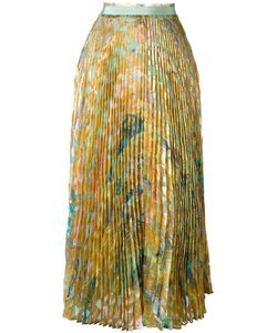 Roberto Cavalli | Runway Pleated Skirt 40 Silk/Polyester