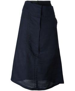 Quetsche | Asymmetric Detailing Mid Skirt 36 Silk/Wool