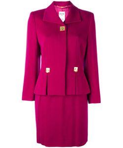 Celine Vintage   Céline Vintage Slit Detail Skirt Suit 38