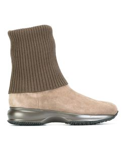 Hogan | Sole Boots 38.5 Leather/Suede/Wool/Rubber