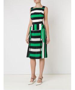 Reinaldo Lourenço | Striped Dress 40 Silk