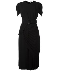 Jil Sander | Belted Pleated Midi Dress 36 Acetate/Viscose