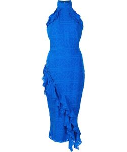 Saloni | Ruffled Fitted Dress 4 Silk/Polyester
