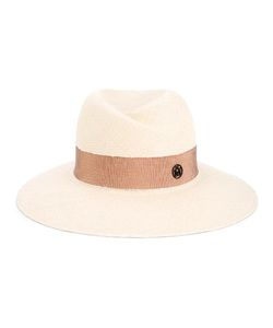 Maison Michel | Virginie Straw Fedora Hat Small Cotton/Straw
