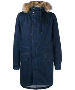 YVES SALOMON HOMME | Rabbit Fur Lined Denim Parka 52
