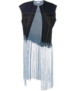 FAUSTINE STEINMETZ | Sleeveless Warp Float Denim Jacket Large