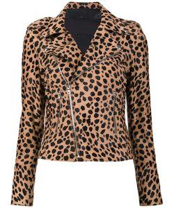 RTA | Nico Biker Jacket Small Lamb Skin/Polyester/Spandex/Elastane/Calf Hair