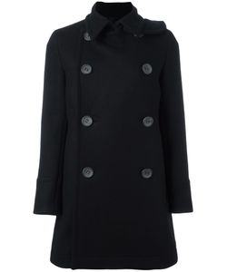 The Reracs | Double-Breasted Mid Coat 38 Silk/Cupro/Wool