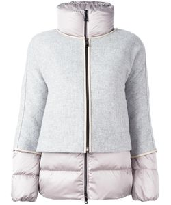 Fay | Zipped Puffer Jacket Small Feather Down/Polyamide/Wool