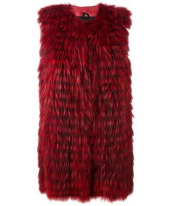 NUMEROOTTO   Sleeveless Coat 44 Racoon Fur