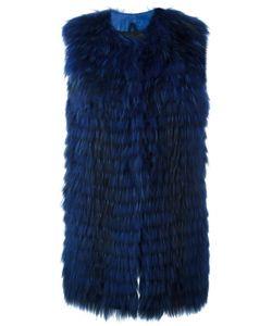 NUMEROOTTO   Sleeveless Coat 42 Racoon Fur