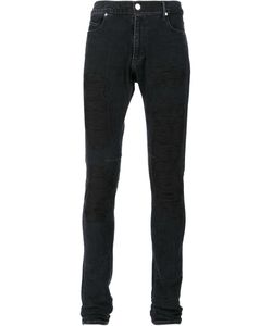 RTA | Embroidered Skinny Jeans 33 Cotton/Polyurethane