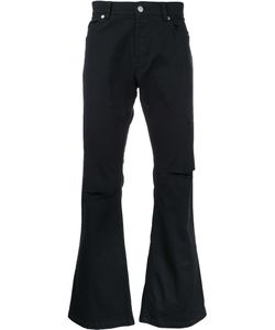 Sub-Age. | Flared Knee Slit Jeans 3 Cotton
