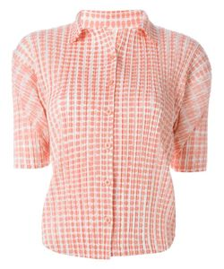 ISSEY MIYAKE VINTAGE | Pleated Shortsleeved Shirt Small