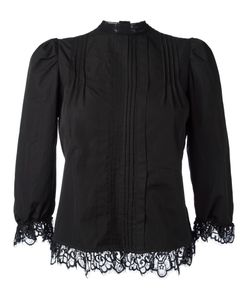 Dsquared2 | Pleated Bib Blouse 40 Cotton/Polyamide