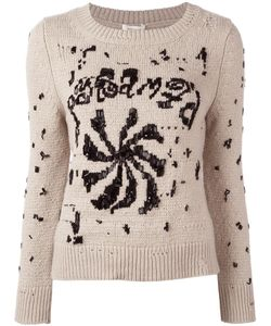Marc Jacobs | Embellished Round Neck Jumper Medium Cashmere/Wool