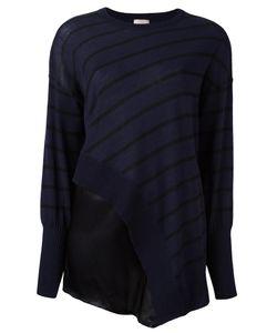 Nude   Striped Asymmetric Knit Blouse 42 Silk/Wool
