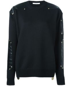 Givenchy | Contrast Panel Jumper Xs Calf Leather/Wool