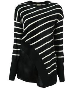 Nude   Striped Asymmetric Knit Blouse 38 Silk/Wool