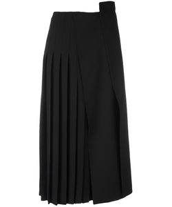 Jil Sander | Pleated Midi Skirt 36 Silk/Acetate/Viscose