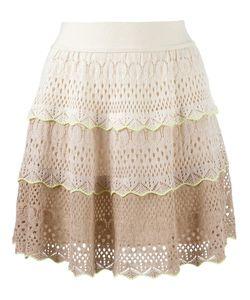 CECILIA PRADO   Knit Flared Skirt Medium Cotton/Acrylic