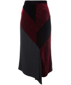 Roland Mouret | Reed Asymmetric Midi Skirt Size 12 Silk/Spandex/Elastane/Acetate/Viscose