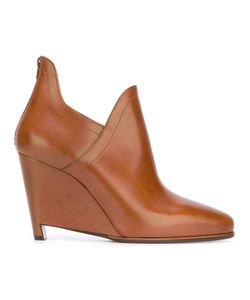 Maison Margiela | Wedge Ankle Boots 39 Calf Leather/Leather