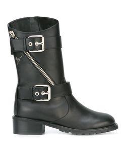 Giuseppe Zanotti Design | Buckle Strap Mid-Calf Boots 37