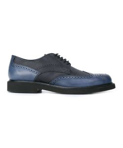 Tod'S | Contrast Panel Derby Shoes 8.5 Leather/Rubber