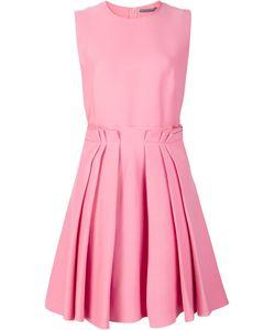 Alexander McQueen | Pleated Skirt Skater Dress 40 Silk/Cotton/Viscose/Wool