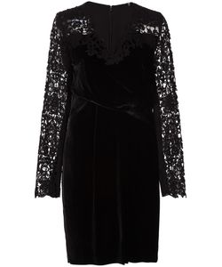 Elie Tahari | Embroidered Sleeves Dress 12 Silk/Rayon