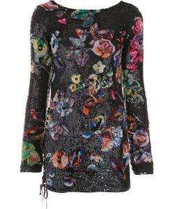 Anthony Vaccarello | Flower Sequin Dress 36 Silk/Sequin