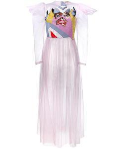 Tata Naka | Embellished Sheer Tulle Dress 6 Nylon