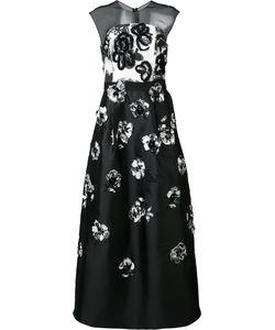 Sachin And Babi | Sheer Panel Embellished Dress 6