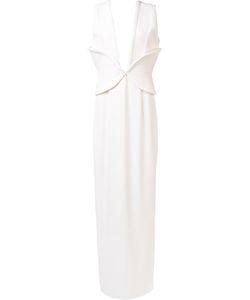 Brandon Maxwell   Plunge Gown 6 Polyester/Spandex/Elastane